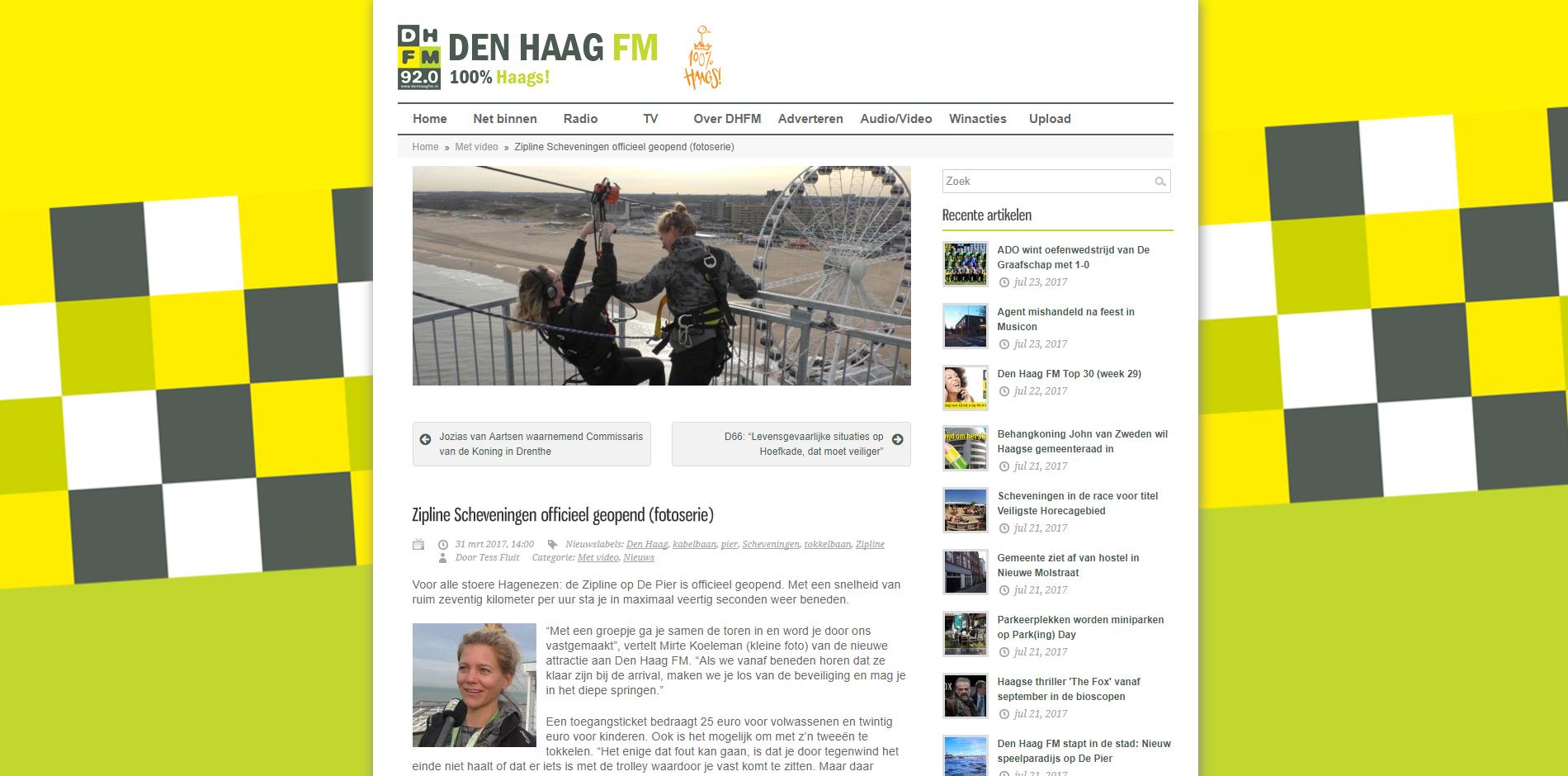Zipline Den Haag fm