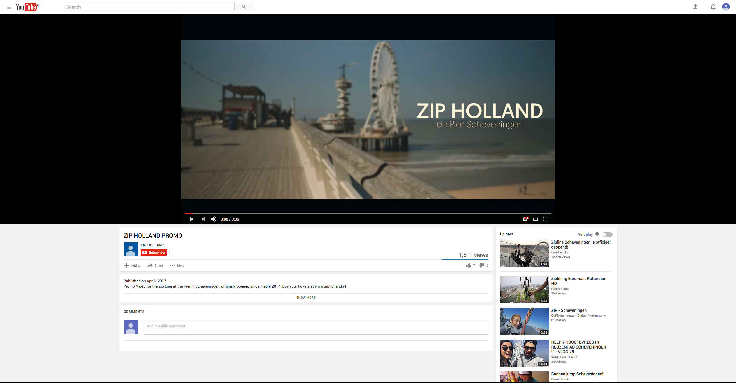 Zip holland promo video